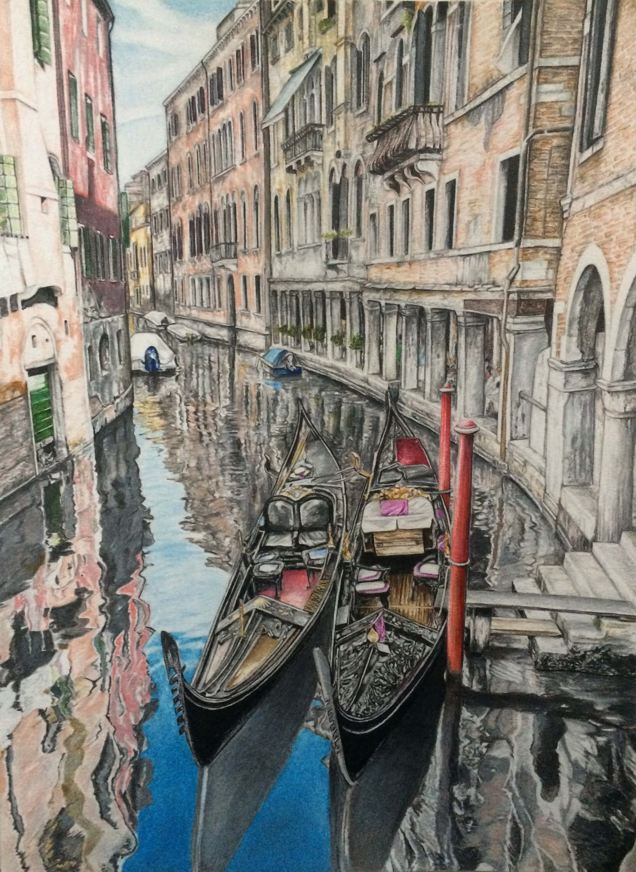 Venezia – Mixed Media on Paper 33×24