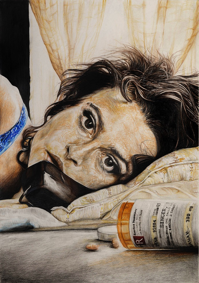 Marla Singer (Fight Club) – Mixed Media on Paper 60×42 cm