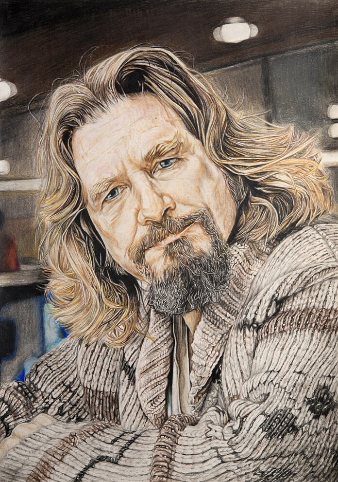 The Dude (The Great Lebowski) – Mixed Media on Paper 60 x 42 cm