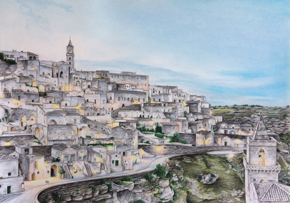 Matera – Mixed Media on Paper 42×60 cm