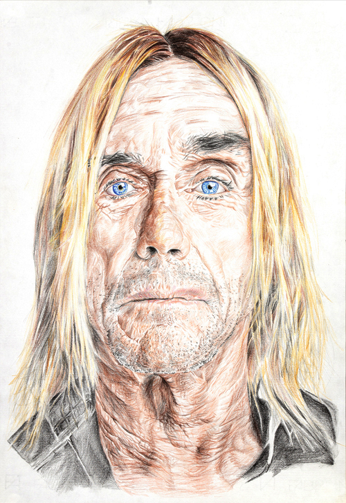 Iggy Pop – Mixed Media on Paper 48 x 33 cm