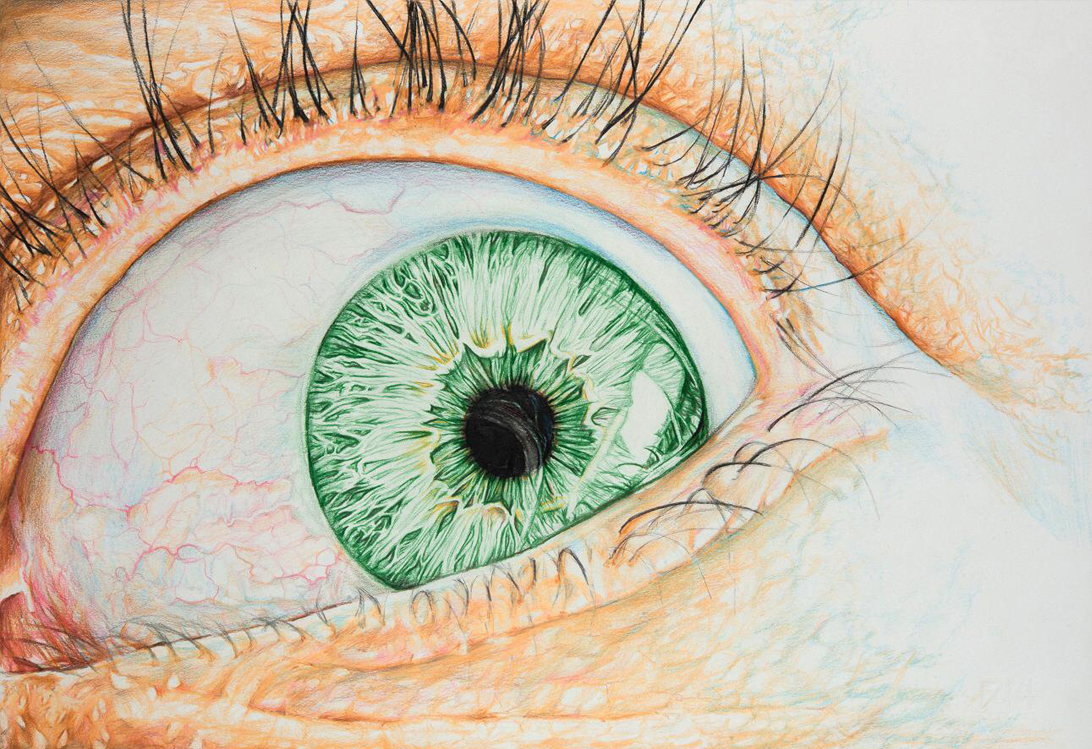 Eye 2 – Mixed Media on Paper 33 x 48 cm