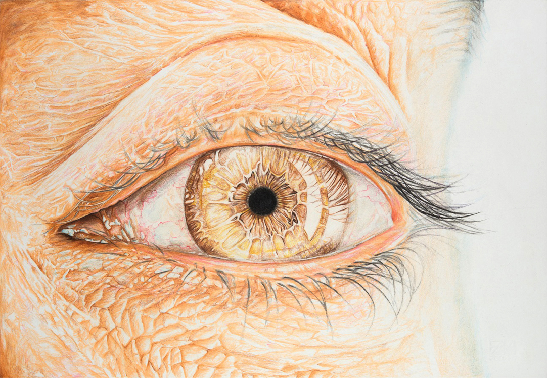 Eye 3 – Mixed Media on Paper 33×48 cm