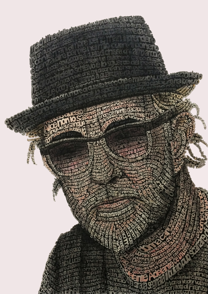 Tribute to De Gregori – Mixed Media on Paper 60×42 cm